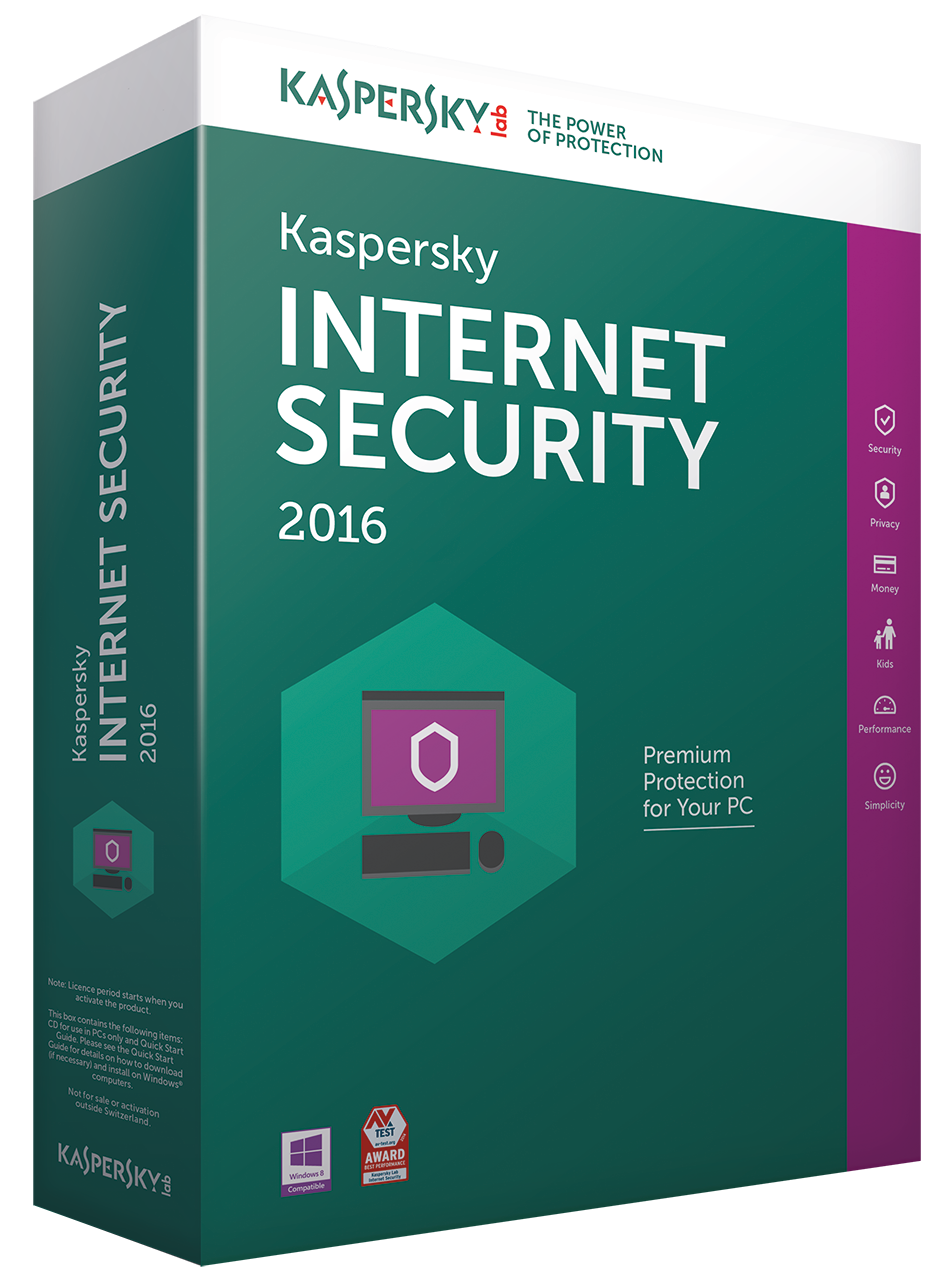 Kaspersky Internet Security 2016 1Pc 1An